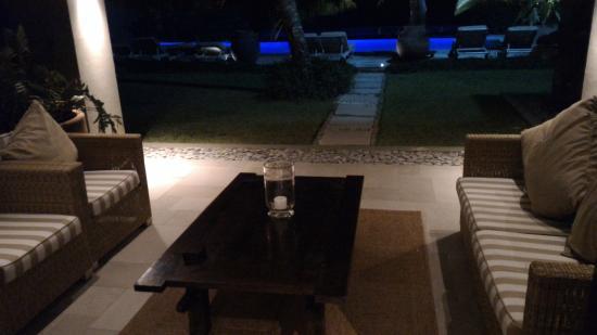 Te Vakaroa Villas: La terrazza