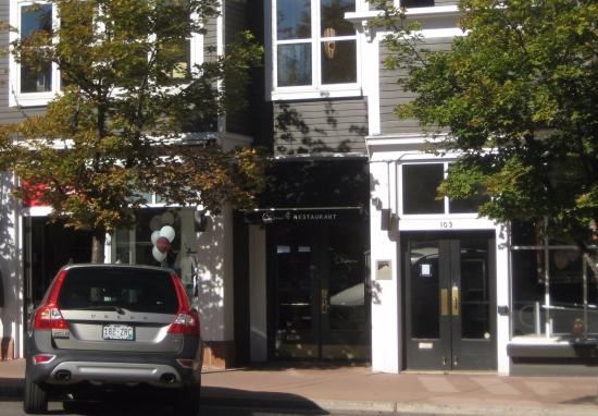 Pinons Restaurant : The door in the center leads to the 2nd floor restaurant.