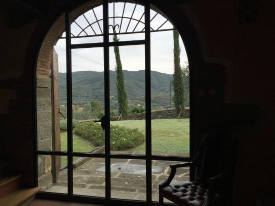 Castiglion Fiorentino, Italia: View from kitchen in villa