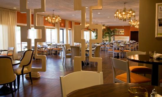 View Of The Dining Room From Lounge At Larks Restaurant Medford