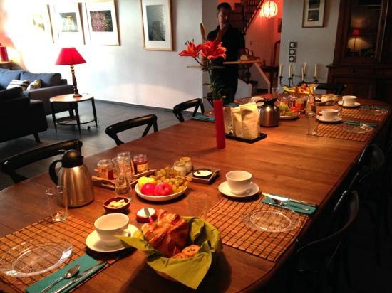 Ortaffa, Fransa: Petit déjeuner Clos des Aspres