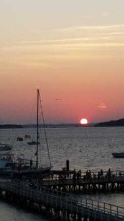 Sea Dog Brew Pub: Sunset at Sea Dog