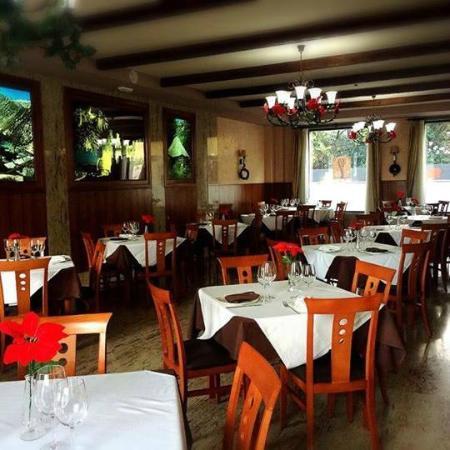 Hotel el Castillo: restaurante decorado en navidad