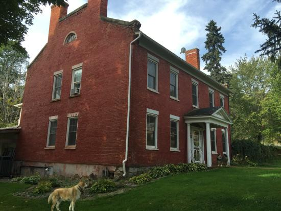 The 1819 Red Brick Inn - A Bed and Breakfast: Main House with Wesley to dog