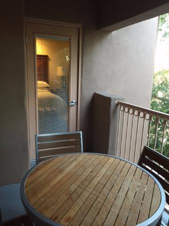 Roomy patio