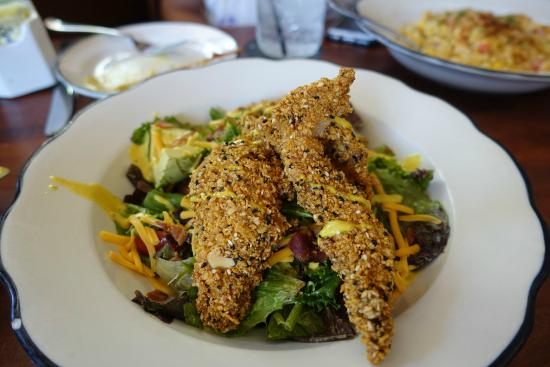 Cornflake Fried Chicken Salad Picture Of Moonshine Patio Bar