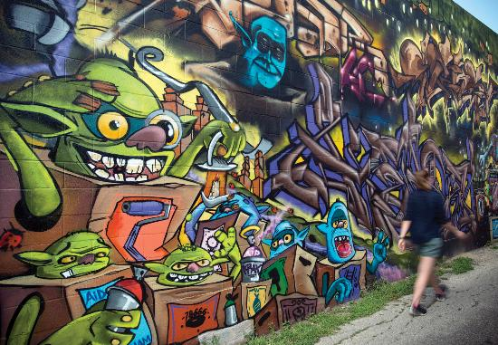 San Marcos, TX: The arts are a way of life. Come explore the murals in and around our Historic Downtown Sqaure