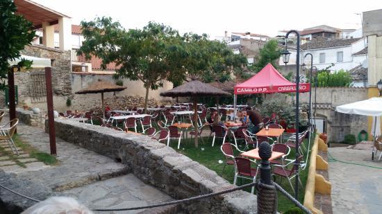 Montanchez, Espanja: Vista parcial de la terraza