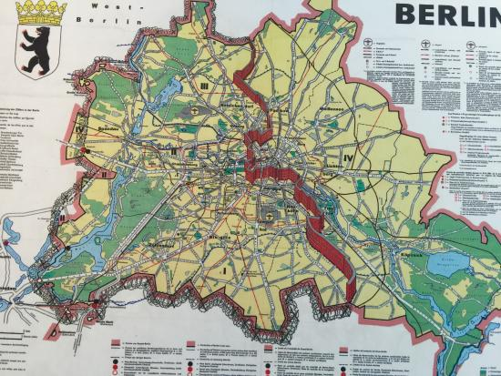 Map Of The Wall In Berlin Picture Of Memorial Of The Berlin Wall - Berlin mitte map