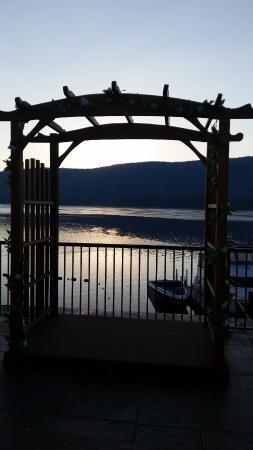 The Georgian Lakeside Resort: View of lake.