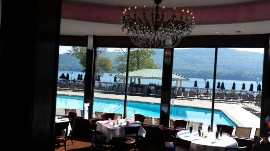 The Georgian Lakeside Resort: View from restaurant looking out!