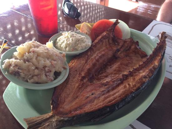 Placemat picture of ted peters famous smoked fish st for Ted peters smoked fish