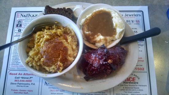 Reececliff Diner & Grill: Thursday Special ~ Bacon Wrapped meatloaf, mashed taters and double helping of corn pudding!