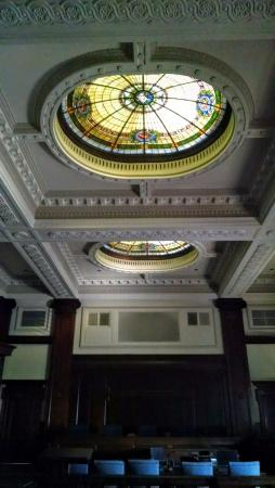 Ventura City Hall : Domed Stained Glass Skylights