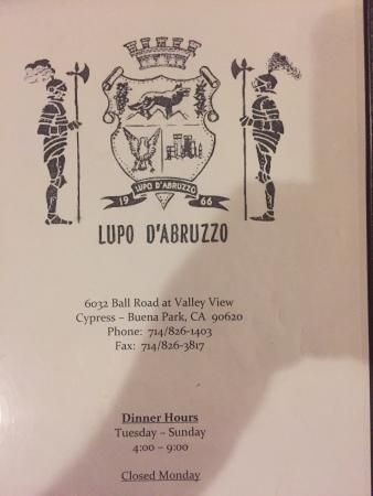 Lupo D'abruzzo Restaurant