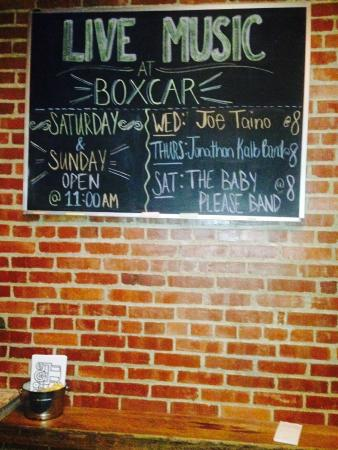 Boxcar Bar and Grill: Live Music Evbery Wednesday & Thursday
