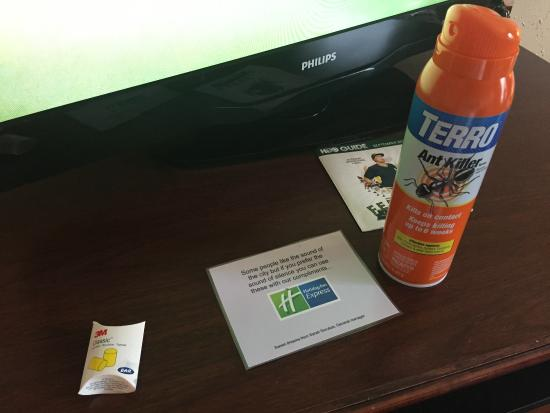 Best Western Kilmarnock Hotel: The bug spray provided to kill the flying bugs everywhere