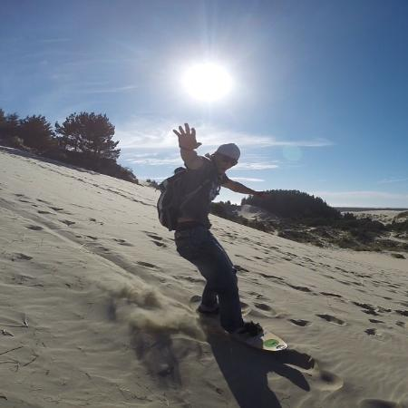 Florence, OR: sand boardin'