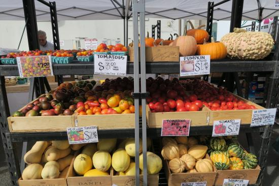 Eugene, OR: numerous tents all selling similar farm products to choose from