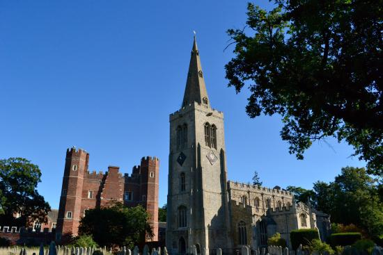 The Lion Hotel: Buckden Towers and church