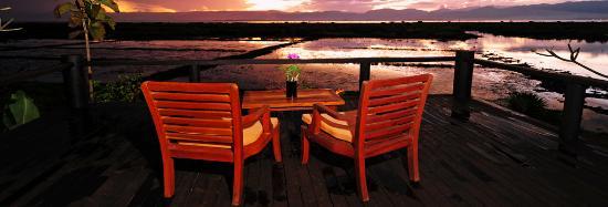 Villa Inle Resort & Spa: sun set view from Balcony