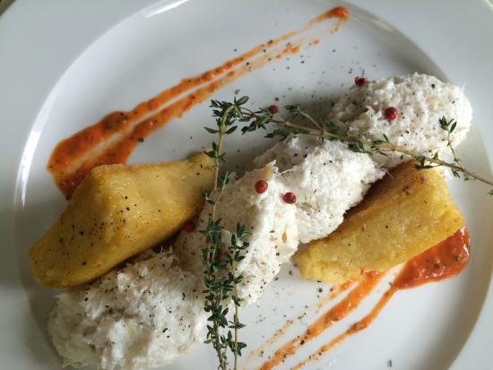 Osteria Alla Frasca: Cod fish with hot fried polenta