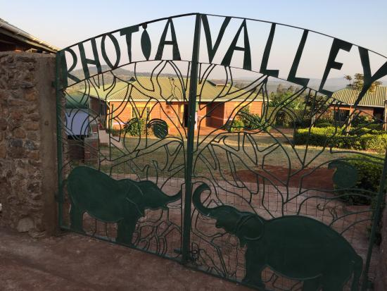 Rhotia Valley Tented Lodge: gate to childrens home