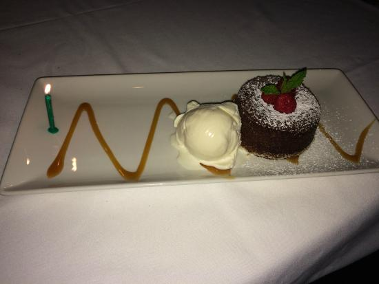 Morton's - The Steakhouse: Can't forget about dessert! Morton's Legendary Hot Chocolate Cake.