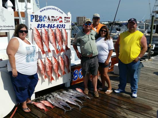 Nice catch of red snapper picture of charter fishing in for Destin florida fishing trips