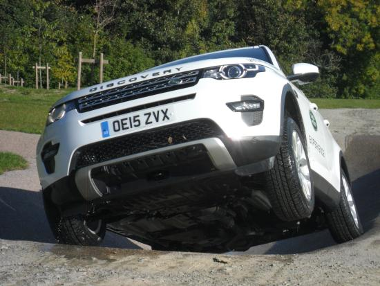 Land Rover Experience Eastnor: Only 2 wheels!