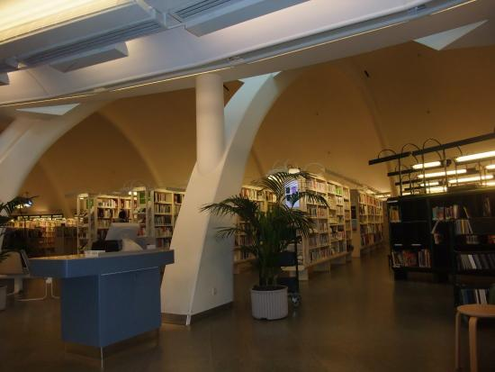 Tampere City Library, Metso: アーチが何カ所も