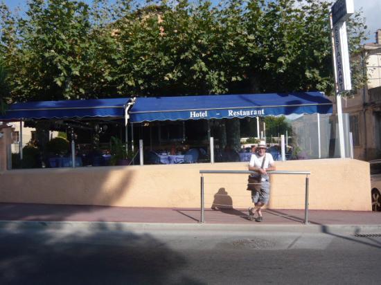 La Napoule, Frankrig: Het mooie terras.