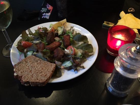 Oughterard, Irlanda: Dinner salad