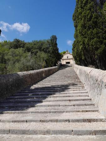 Calveri Church at top of the steps - Picture of The 365 Calvari Steps, Pollen...