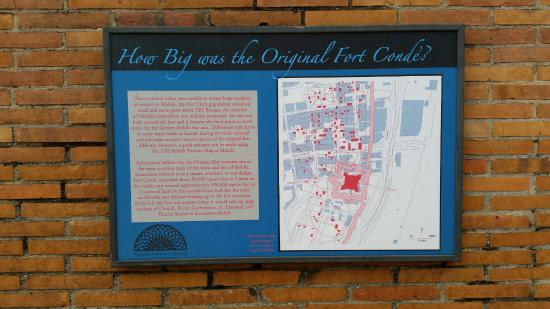 Fort Conde Museum and Welcome Center: Comparison Map to the original fort
