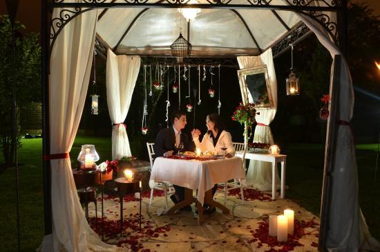 Parador San Juan de Dios : Cena romantica