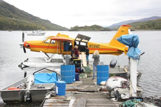 Munsey's Bear Camp: Unloading the plane before we flew back out
