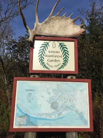 Juneau Rainforest Garden: Rainforest Garden sign