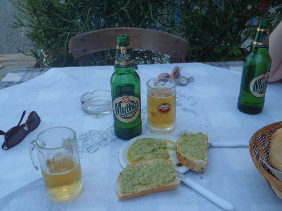 Lendas, Greece: Garlic Paste and Beer