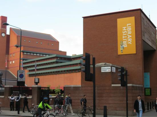 Exterior of the british library picture of british Library garden grove