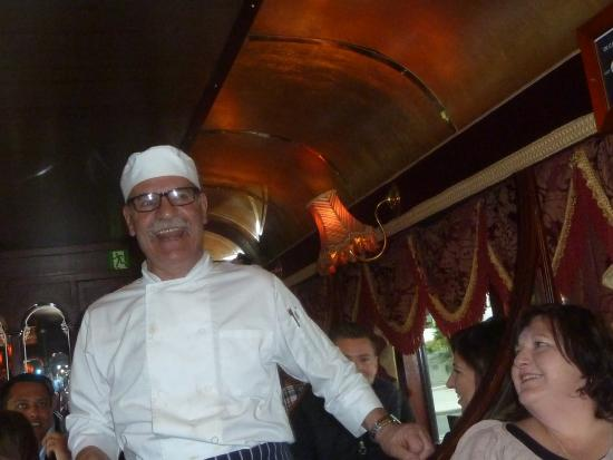 The Colonial Tramcar Restaurant: singing chef