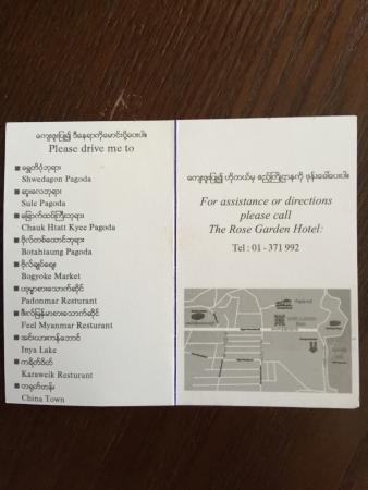 Love these cards at the desk to help you get around with a taxi