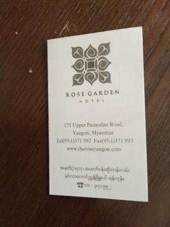 Love these cards at the desk to help you get around with a taxi rose garden hotel yangon love these cards at the desk to help you get around stopboris Choice Image