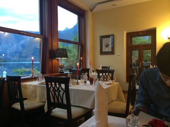 Restaurant im Seehotel Gruner Baum: 레스토랑 내부