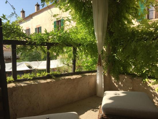 Son Boronat : Vores lille terrasse foran vores værelse