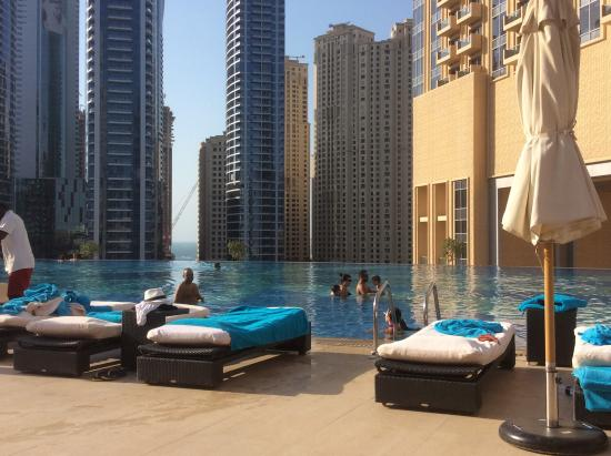 Lavish Rooftop Pool Picture Of The Address Dubai Marina Dubai Tripadvisor