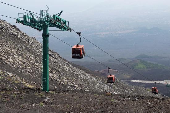 Etna Cable Car Picture Of Sicily Shore Tours Taormina Tripadvisor