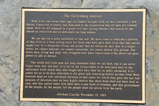 lincoln s gettysburg address picture of gettysburg national