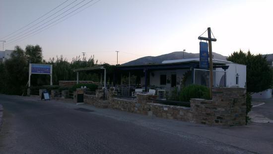 Ostria Inn: View of taverna