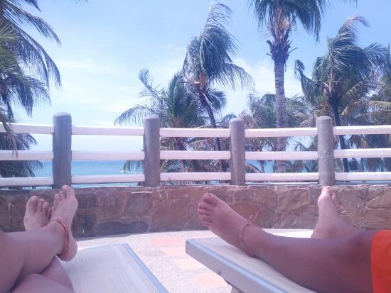 El Yaque Paradise Hotel: vista desde el área de la piscina
